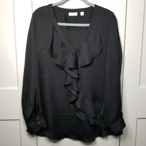 New York and company ruffled blouse